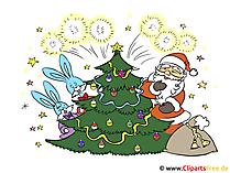 私たちの無料のクリップアートでクリスマスカードを自分で作る