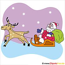 Weihnachtsmann Karte - Bilder zu Weihnachten