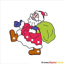Weihnachtsmann mit Geschenken Clip Art free