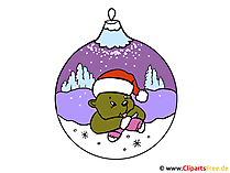 Weihnachtsmotive Clipart-Bilder-Illustrationen