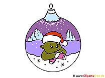 クリスマステーマクリップアート画像イラスト