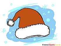 サンタ帽子サンタ帽子イメージイラスト