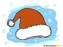 Weihnachtsmütze Nikolausmütze Bild-Illustration