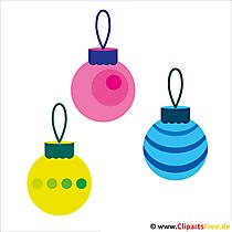 クリスマスのためのクリスマスの装飾クリップアート