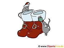 クリスマス写真サンタクロースの靴