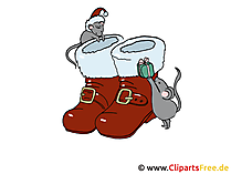 Xmas Bilder Santa Claus Schuhe