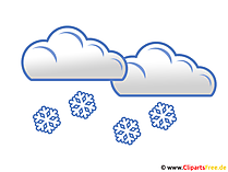 Es schneit Clipart - Bild