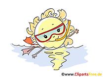 Logo, Maskottchen  Taucherclub, Clipart, Bild, Cartoon, COmic