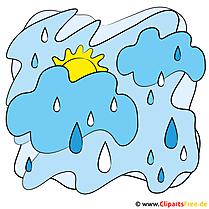 Regen Cartoon Bild