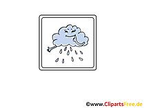 Regen, Wolke, Unwetter  Icon, Bild, Clipart, Grafik