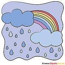 Regenbogen Cartoon Bild Wetter