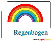 Regenbogen Clipart free - Wetter Bilder kostenlos