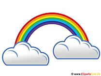 Regenbogen und Regenwolken Image