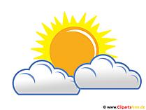 Regenwolken und Sonne - Wetter Bild