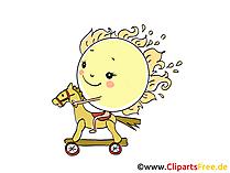 Reiten, Sonne, Pferd Bild, Illustration, Cartoon, Clipart, Pic gratis