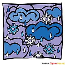 Schnee mit Regen Bild