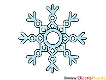 Schneeflocke Clipart, Illustration, Bild kostenlos