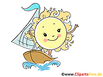 Segeln Bild, Illustration, Cartoon, Clipart, Pic gratis