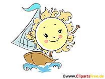 Segeln Bild, Illustration, Cartoon, Clipart, Pic gratis