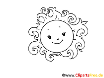 Smiling sun clip art, image, cartoon, comic, pic free