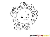 Smiling sun clip art, image, pic, cartoon free