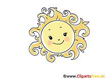 Sonne Clip Art, Bild, Cartoon, Comic, Grafik