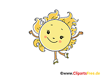 Sonne Comic, Cartoon, Clipart, Bild