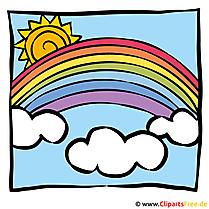 Sonne und Regenbogen Bild