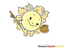 Sonnlein mit Farben Bild, Illustration, Cartoon, Clipart, Pic gratis
