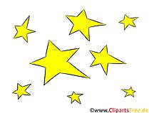 Sterne Clipart, Illustration, Bild kostenlos