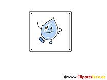 Wassertropfen  Icon, Bild, Clipart, Grafik