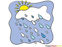 Wetter Icons kostenlos - Regen und Sonne