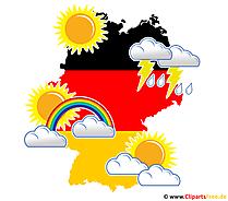 Wetter in Deutschland im Sommer - PNG Bild