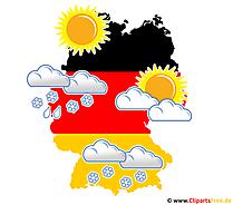 Wetter in Deutschland im Winter - PNG Wetter Clipart