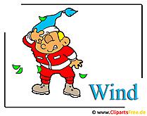 Wind Clipart Bild - Wetter Bilder kostenlos