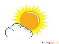 Wolke deckt die Sonne ab Clipart