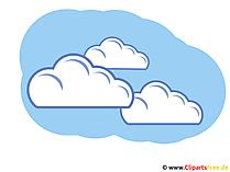 Wolken am blauen Himmel - Wetter Bilder