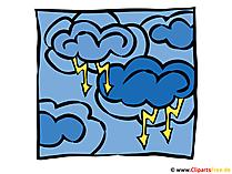 Wolken mit Blitzschlag Bild