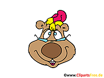 Baer Illustration, Comic, Cartoon, Bild