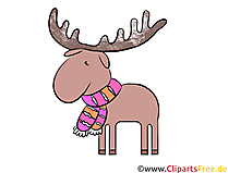 Elch Clipart, Illustration, Bild kostenlos