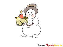 Kostenlose Schneemaenner Bilder, Grafiken, Cliparts