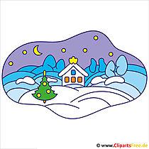 Nacht Clipart - Bilder zu Weihnachten