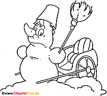 Gambar kartun manusia salju hitam putih
