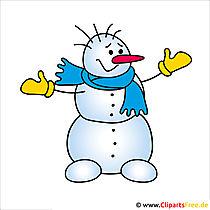 Schneemann Weihnachtsbild
