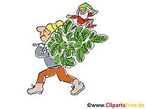 Tanennbaum schlagen Cartoon, Clipart, Bild, Illustration