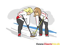 Curling Clipart, Bild, Cartoon, Comic, Illustration