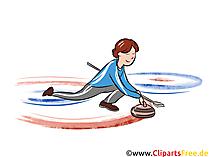 Curling Illustration - Wintersport Cliparts, Bilder