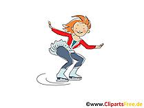 Eiskunstlauf Frauen Bild, Sport Cliparts, Comic, Cartoon, Image gratis