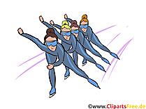 Eisschnelllauf Illustration - Wintersport Cliparts, Bilder
