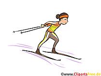 Nordische Kombination Illustration - Wintersport Cliparts, Bilder